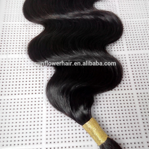 Mongolian virgin human hair bulk body wave