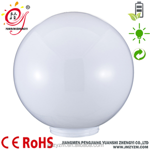 dome lamp shade for garden lighting plastic outdoor lamp cover in opal colored