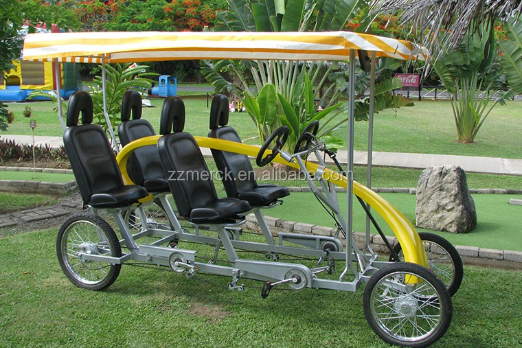 City Sightseeing Factory Direct Adult Pedal Quadricycle Tandem 2