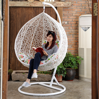 Rattan Wicker Hanging Egg Chair Outdoor Jhula Patio Garden Swing Living Room Indoor Indian Adult