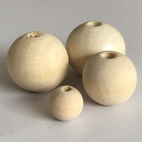 50mm Round wood beads natural color with little holes factory wholesale many sizes Teething Wooden Beads