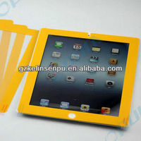 yellow colored printing screen protectors for i PAD 2/3/4, colored printing screen guard