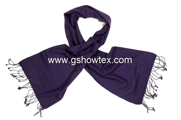 100% Viscose Solid Pashmina Scarf