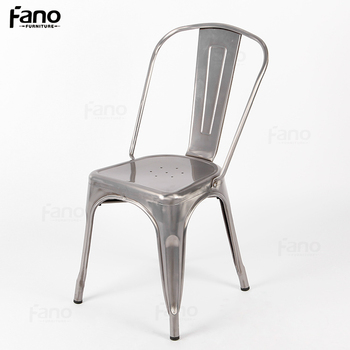 Model Metal Stacking Chair Brushed Marais Xavier Pauchard Gunmetal/gun  Metal Side Chair