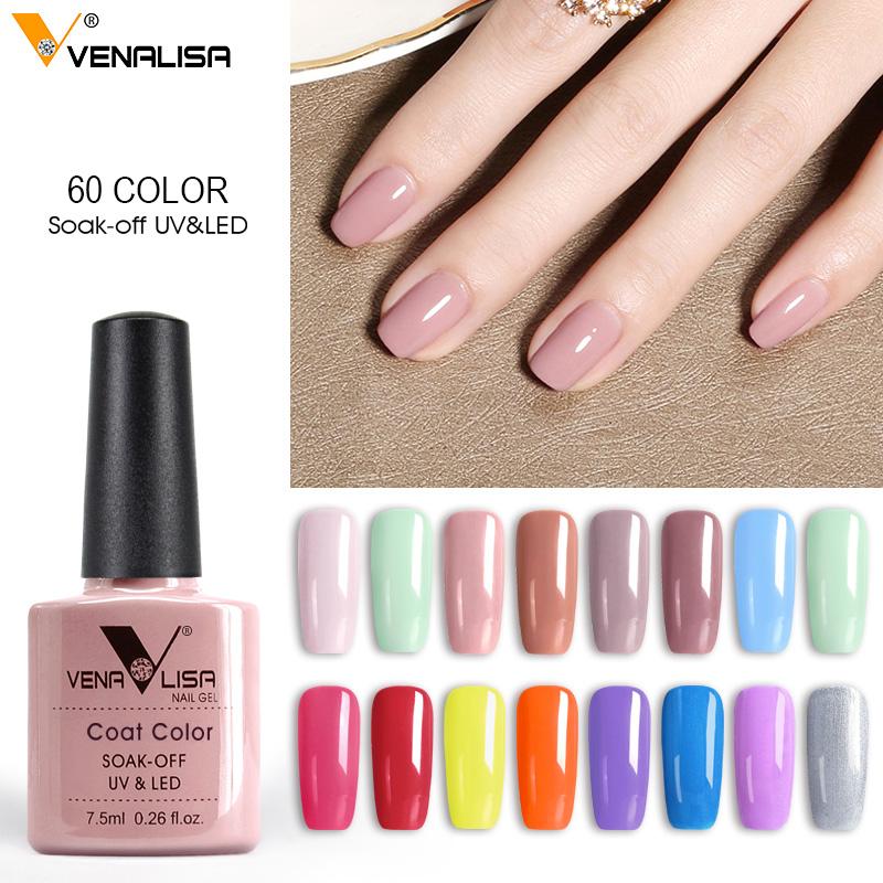 2020 Hot Sale Venalisa uv led soak off 60 Colors Gel Nail Polish OEM ODM Brand Private Your Label Nail Polish Lacquer Varnish