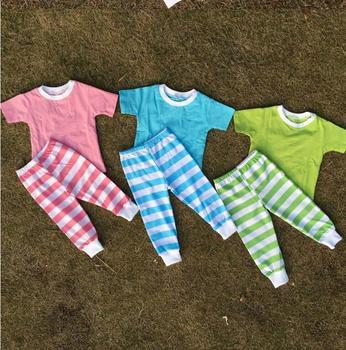 a679bf13d874 Cute pajamas wholesale cotton 100%cotton pajama set kids set kids plain  pajamas