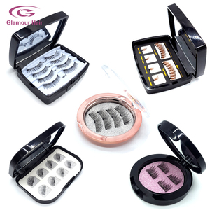Direct Factory Wholesale New Style Handmade Silk Magnetic Eyelashes False Eyelash