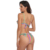 Lover-Beauty New Style Color Striped Ruffled Two Piece Mature Women Sexy Thong Swimsuit Bikini