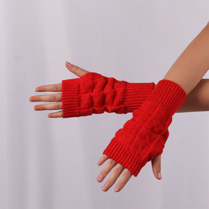 Fashion Knitted Soft Warm Mittens Fingerless Gloves