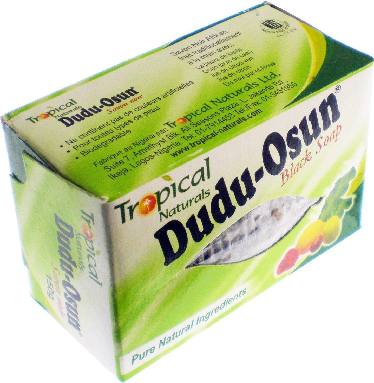 Tropical Naturals Dudu-Osun African Black Soap [Pack of 2 - Black - 150g]