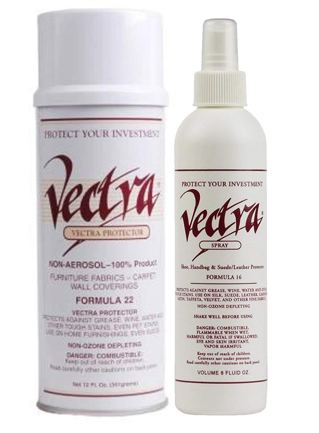 Get Quotations 1 12 Oz Can Of Vectra Fabric Protector And 8oz Bottle