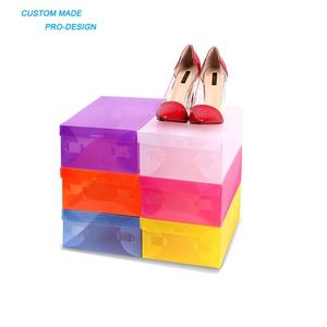 Small order accepted clear Plastic PP/PVC/PET foldable storage box shoes