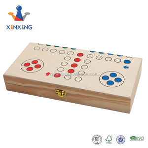 Folding Wooden ludo game board set, portable board games
