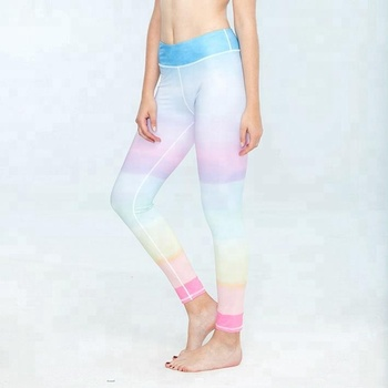 59971f12dca21 Women High Waisted Knitted 88% Nylon 12% Spandex Lycra Seamless Compression  Yoga Pants