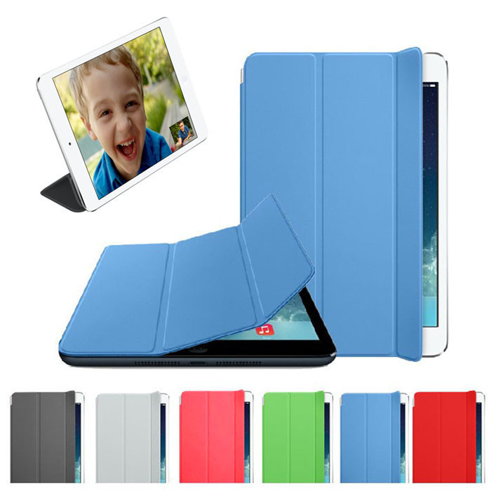 Smart Leather Cover Sleep Wake Case For iPad mini Retina 2 original ultra flip leather stand cases