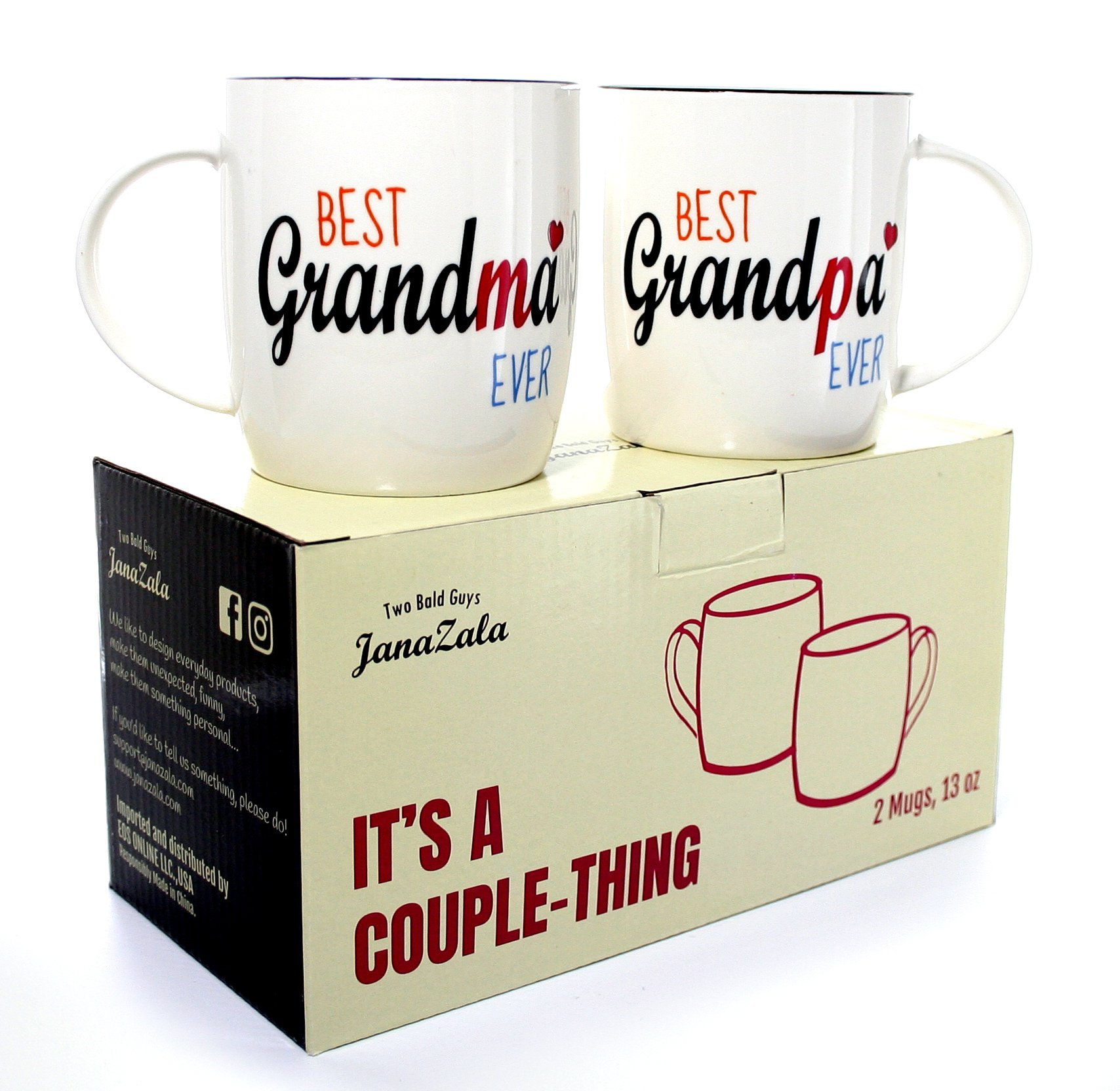 Get Quotations Gifffted Best Grandparents Ever Coffee Mugs Anniversary And Birthday Gift For Grandma Grandpa Grandfather