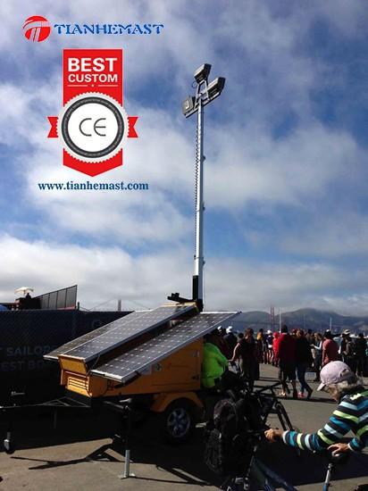 Solar Power Led Light Trailer Mounted Mobile Lighting Tower ...