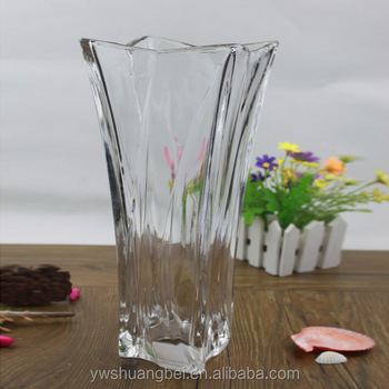 Promotion Large Heavy Clear Rectangular Glass Vase Buy Giant Clear
