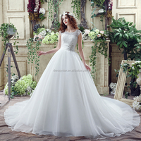 Best selling inexpensive china wholesale wedding dresses online with chapel train