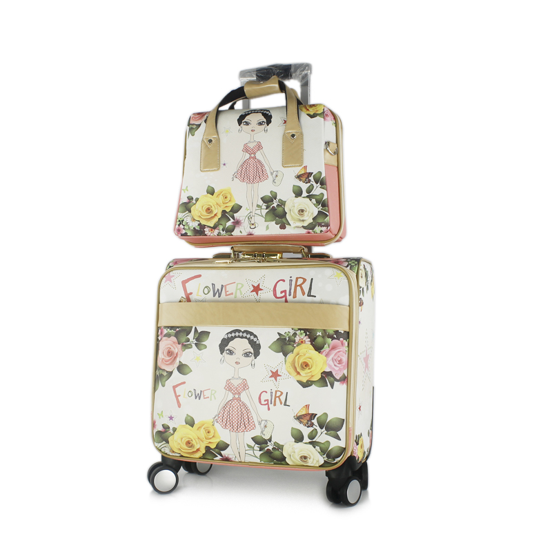 Set of 2pcs Travel Select Two Piece Carry On Travel Trolley Luggage Bag