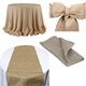 100% burlap chair sash for wedding