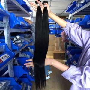 No Tangle No Shed 30 32 34in Long Lasting 3 Years Original Cuticle Aligned Peruvian Virgin Hair Straight Closure Weft