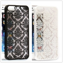 Damask Vintage Flower Pattern Luxury Phone Case Back Cover for Apple IPhone 4 4S 5 5S 6 6 Plus Cases