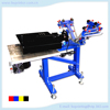 HS-SPE31NL 3 color 1 station floor type single wheel with vacuum platen screen press all-in-one screen press
