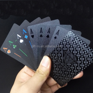 Custom Game Card PVC Poker Waterproof Gold Foil Playing Cards