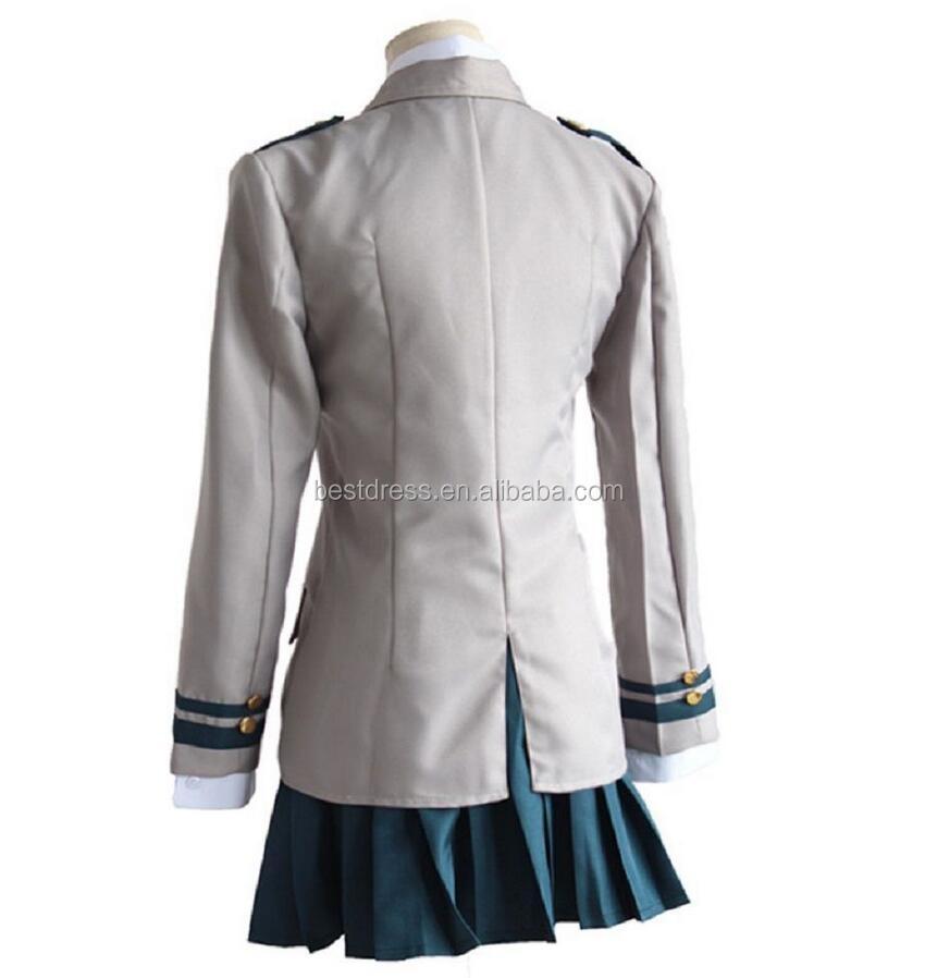 ecowalson Boku No Hero Academia Asui Tsuyu Yaoyorozu Momo School Uniform Cosplay Costume