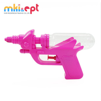 Cheap water gun plastic toy spray gun with candy toy tube