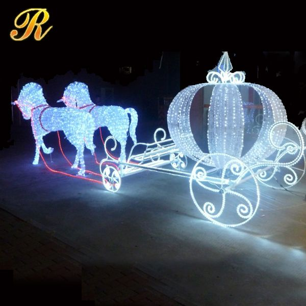 Led Cinderella Pumpkin Horse Carriage For Christmas