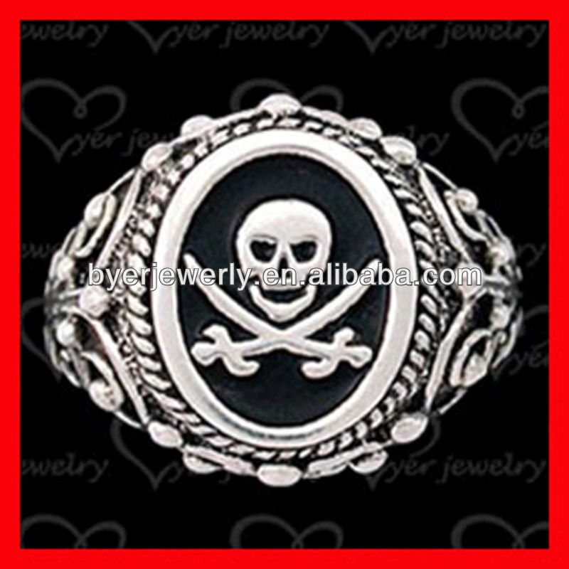 Exquisite Masonic Skull and Bones silber rings