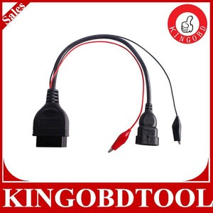 2014 High quality Fiat 3pin Alfa Lancia to 16 Pin obd obd2 connector fiat 3 pin Diagnostic Cable