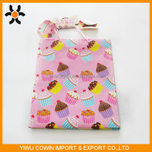 Coated Paper gift bag print cupcake multi colour