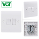 Electrical 2 gang 1 way switch plate smart outdoor light switch