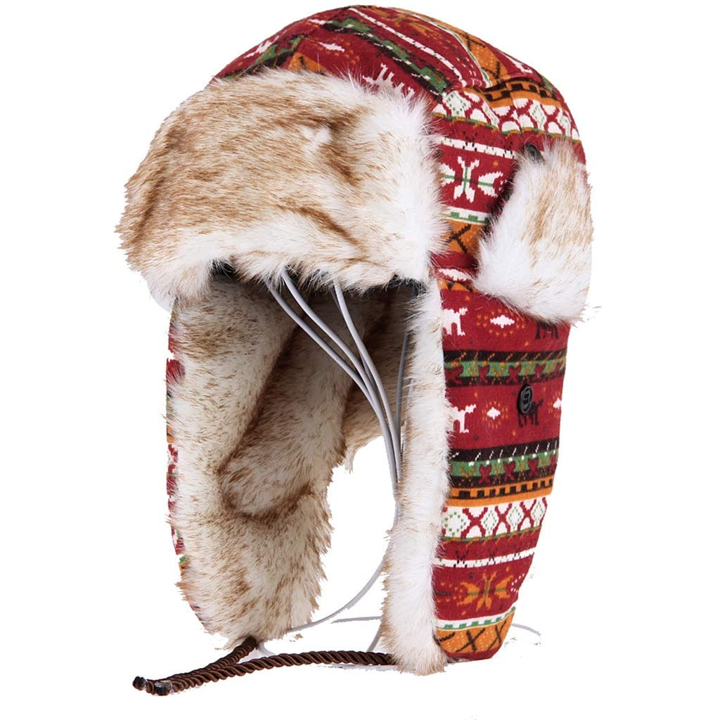 Winter Bomber Caps New Faux Fur Earmuffs Brand Warm Lei Feng Caps Ski Thickened Cold-Resistant Snow Hats