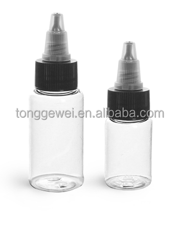clear green amber black white purple 15ml 30ml PET Boston Rounds Black Natural Twist Top Caps