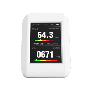Air quality monitor portable size PM 10 PM 2.5 CO2 measuring instrument