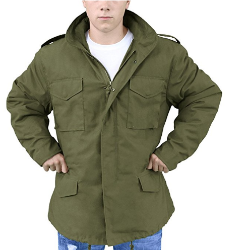 American Tactical Men Windbreaker Jacket With Inner Big Yards Camouflage Field Jacket Military Fans M65 Winter Jacket