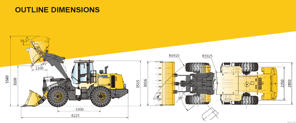 China best wheel loader 5ton with 3cbm bucket