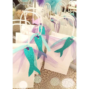 Mermaid Paper Bags Gift Treat For Kids Themed Baby Shower Birthday Party Supplies