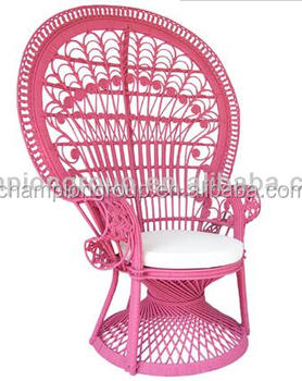 WR 6900 Real Round Rattan Peacock Chair     Bright Colors Available