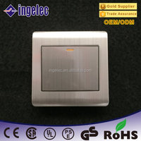 one gang one way CE certification 13A zigbee electric wall switch with fluorescent indicator