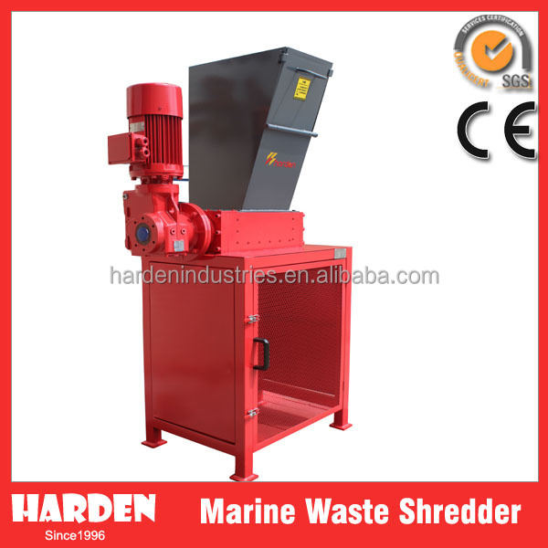 Marine garbage shredder / shredding machine
