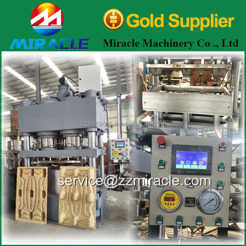Automatic compressed wooden pallet production line for transportation wooden tray