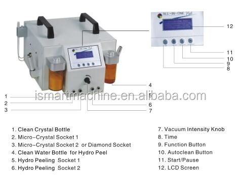 Top Professional oxygen jet peel microdermabrasion machine