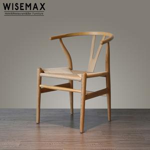Foshan wholesale furniture Hans Wegner Wishbone solid wood Y Chair dinning Chair
