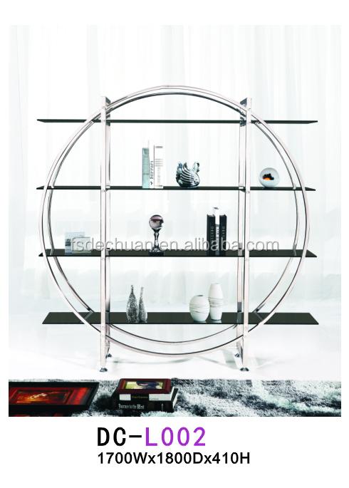 wohnm bel runde metall moderne ecke b cherregalandere. Black Bedroom Furniture Sets. Home Design Ideas