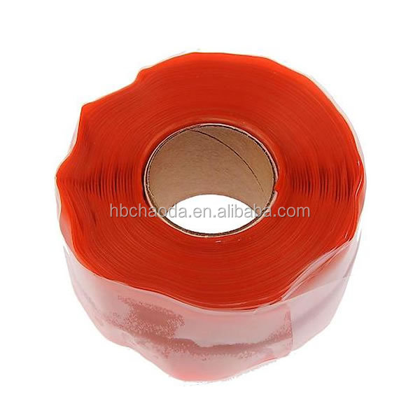 Red color multi-function high voltage wire wrap hose repair insulation high temperature tape masking tape
